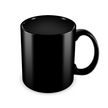 Caneca personalizada preta - Personalize a sua