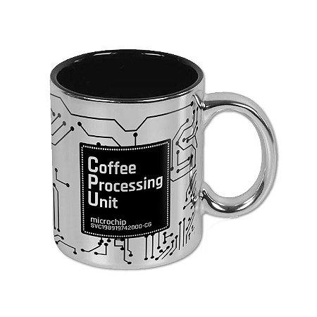 Caneca CPU Coffee Processing Unit Prata
