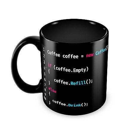 Caneca If Coffee Preta