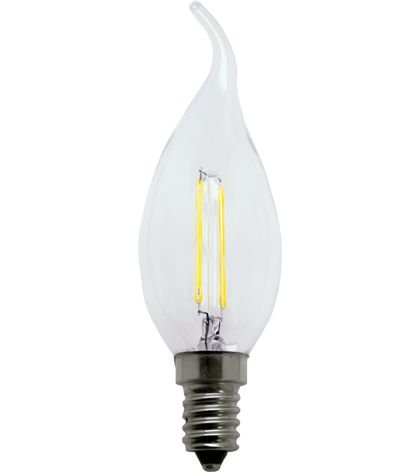 Lâmpada vela chama filamento LED 2700k 3w - 127v. (7117)