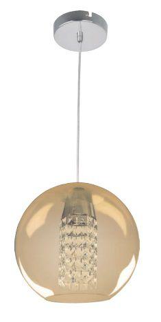 Pendente Globe 30cm 1L - Ambar - Bronzearte  (5074)