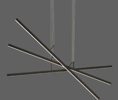 Pendente Compass Preto 67W 3000k bivolt - Opus (6411)