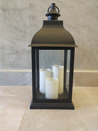Lanterna Colonial Média - Casa do LED (4764)