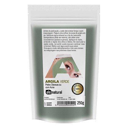 Argila Verde 250g Peles Oleosas ou com Acne
