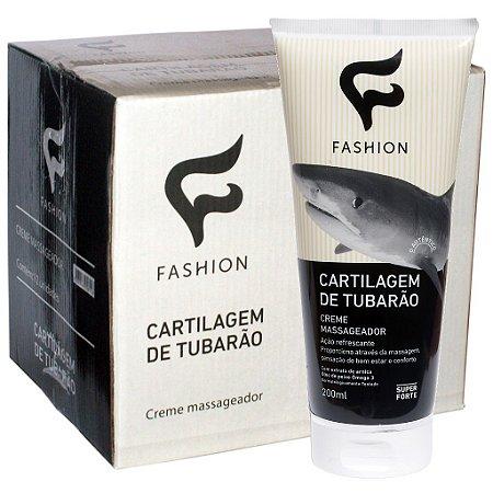 Caixa 12 Und Creme Massag Cartilagem de Tubarão 200g Fashion