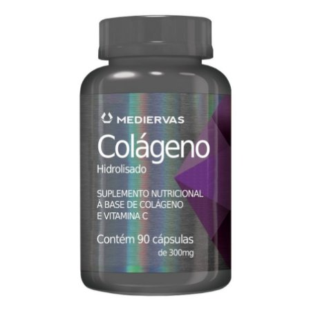 Colágeno e Vitamina C 90cps 300mg Mediervas