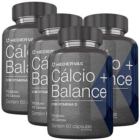 Kit 4 Und Cálcio Balance 60cps 600mg Mediervas