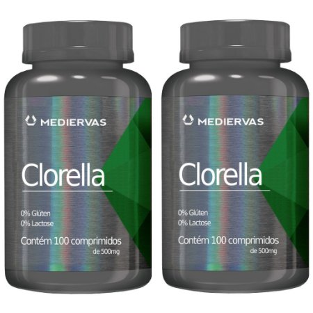Kit 2 Und Clorela 100 caps 500mg Mediervas