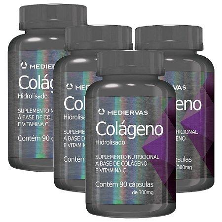 Kit 4 Und Colágeno e Vitamina C 90cps 300mg Mediervas