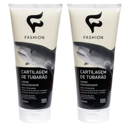 Kit 2 Und Creme Massageador Cartilagem de Tubarão 200g Fashion