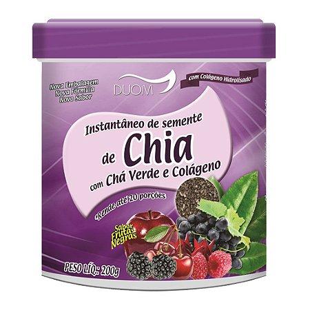 Instantâneo de Chia, Chá Verde e Colágeno 200g Duom