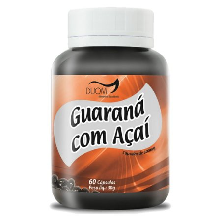 Guaraná c/ Açaí 60cps 500mg Duom