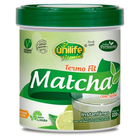 Termo Fit Matchá 220g Sabor Limão
