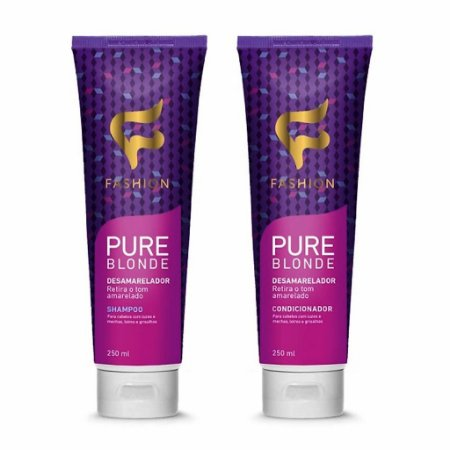 Kit Desamarelador Pure Blonde Fashion (Shampoo 250ml e Condicionador 250ml)