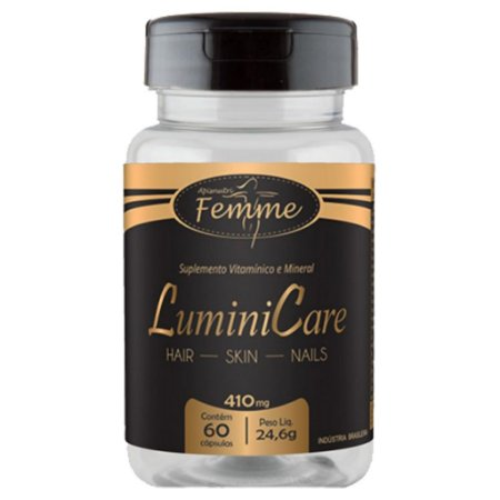 Lumini Care 60cps 410mg (Cabelo, Pele e Unhas) Apisnutri