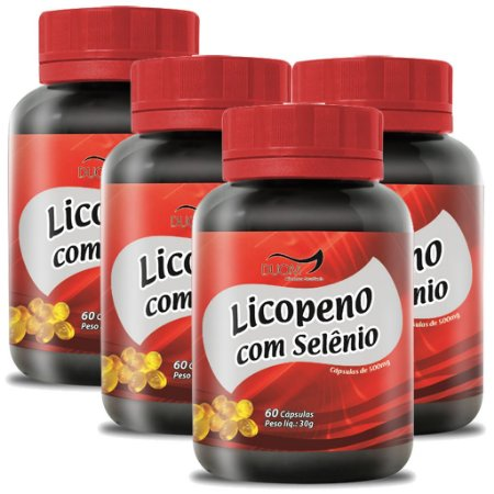 Kit 4 Und Licopeno c/ Selênio  60cps 500mg Duom