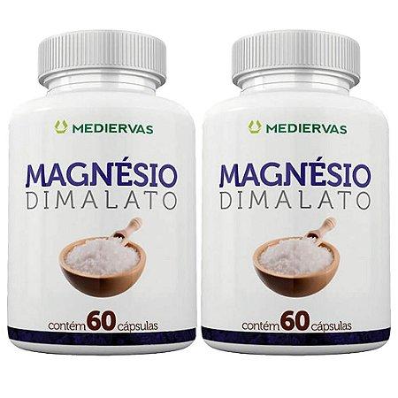 Kit 2 Und Magnésio Dimalato 60cps Mediervas