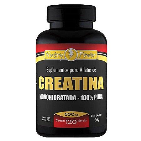 Creatina Monohidratada (100% Pura) 120cps 600mg Nutry Power