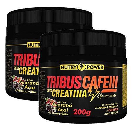 Kit 2 Und Tribus Cafein com Creatina 200g Sabor Guaraná Nutry Power