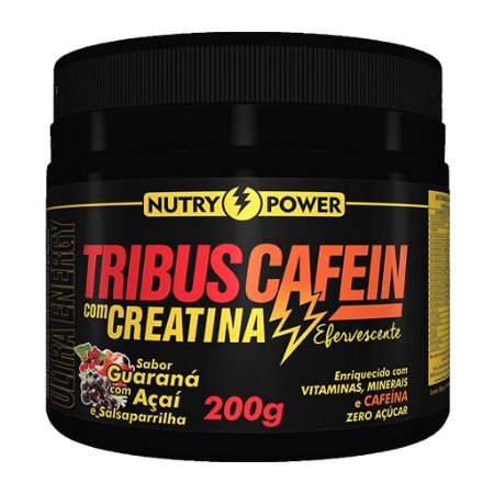 Tribus Cafein com Creatina 200g Sabor Guaraná Nutry Power