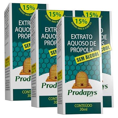 Kit 4 Und Extrato Aquoso de Própolis (Sem Álcool) 30ml Prodapys