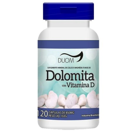 Dolomita + Vit D 120cps 850mg Duom