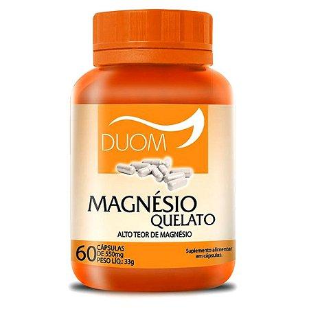 Magnésio Quelato 60cps 650mg Duom