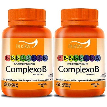 Kit 2 Und Vitaminas do Complexo B 60cps (1 ao dia) Duom