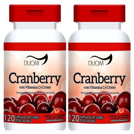 Kit 2 Und Cranberry 120cps 550mg Duom