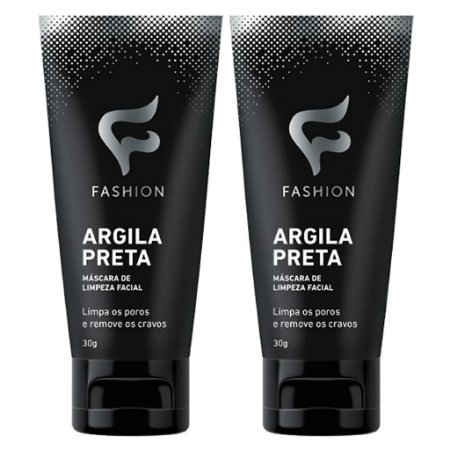 Kit 2 Und Argila Preta 30g (Máscara de Limpeza Facial) Fashion