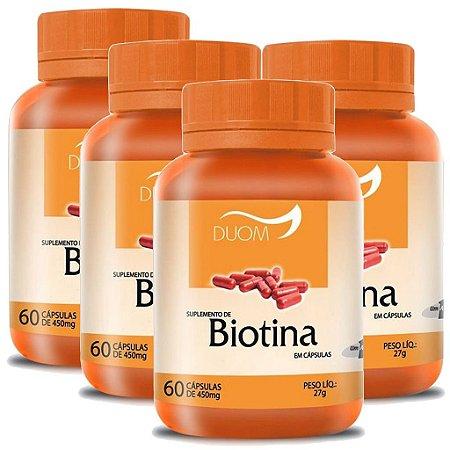 Kit 4 Und Biotina 60cps 450mg Duom