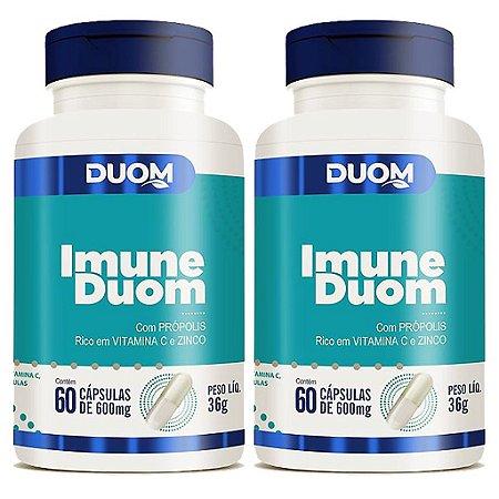 Kit 2 Und Imune 60cps 600mg Duom (Própolis, Vitamina C e Zinco) Duom