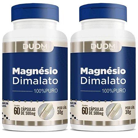 Kit 2 Und Magnésio Dimalato 60cps 500mg Duom