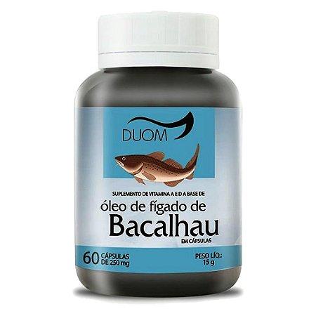 Óleo de Fígado de Bacalhau 60cps 250mg Duom