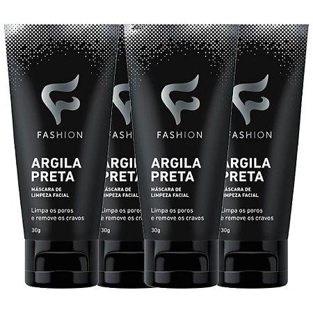Kit 4 Und Argila Preta 30g (Máscara de Limpeza Facial) Fashion