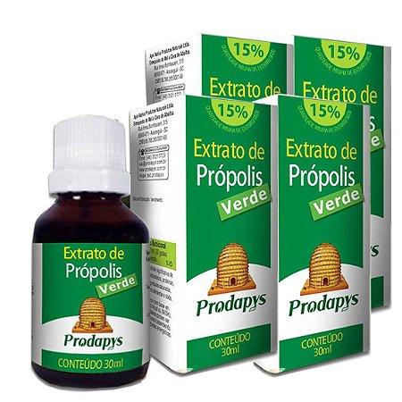 Kit 4 Und Extrato de Própolis Verde 30ml Prodapys