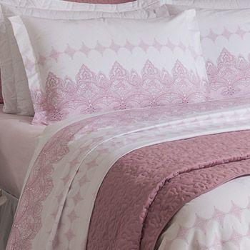 264ed0b362 Jogo de Cama para cama casal Santista Mumbai - Dona Ester Enxovais ...