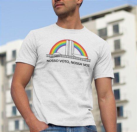 Camiseta Parada LGBT 2018 - Nosso Voto, Nossa Voz