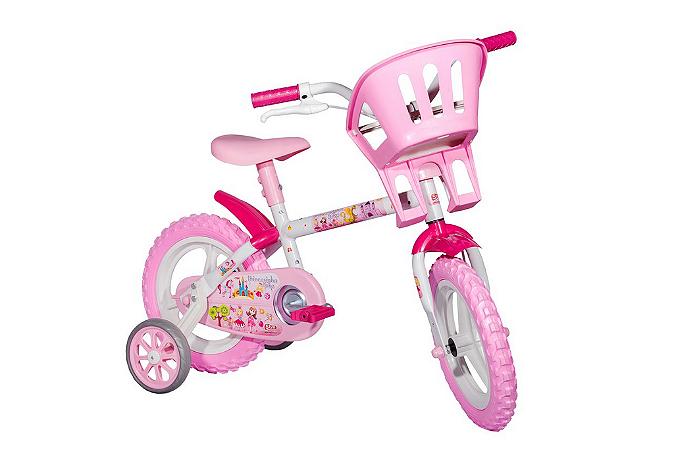 Bicicletinha Bicicleta Princesinhas Aro 12 - Styll Baby