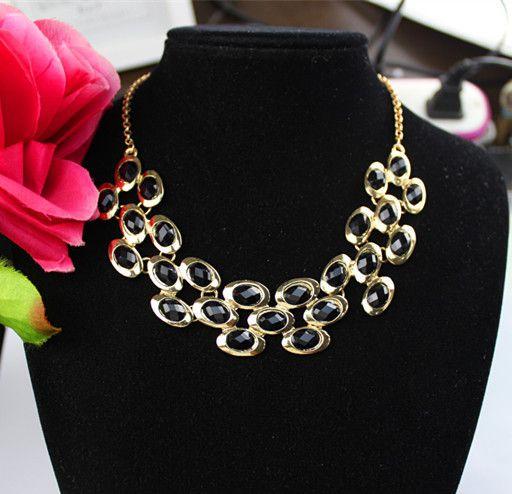 colar romântica  jóias cor ouro 18k