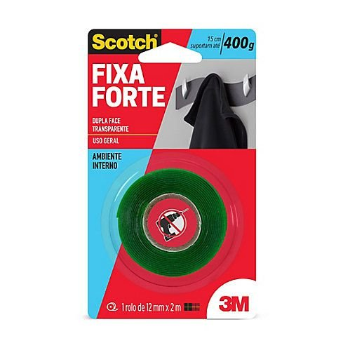 Fita Dupla Face Transparente  Fixa Forte - 3M