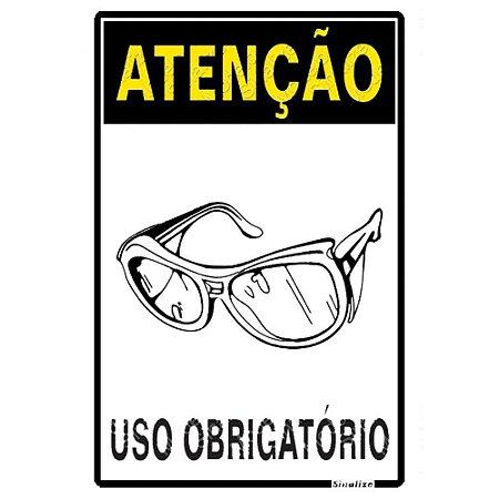 ATENÇÃO USO OBRIGATÓRIO DE ÓCULOS