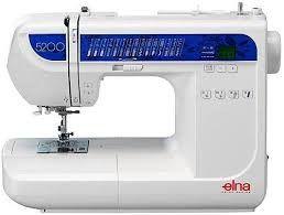 Máquina de Costura Elna 5200 com 30 pontos - 110 VLTS + KIT DE LINHAS