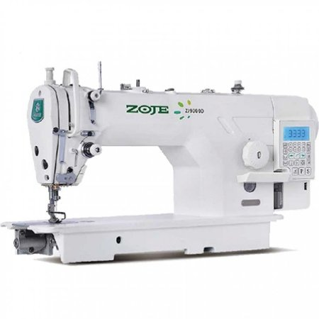 Maquina de Costura Reta Eletronica Zoje ZJ-9000D-D4S-02 Solenoide Embutido - 220 vlts