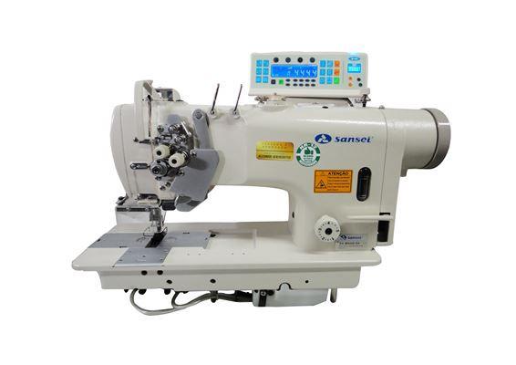 Maquina Pespontadeira 2 Agulhas Sansei Barra Alternada SA-M8450-D4 - 220 VLTS