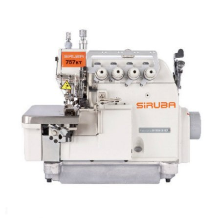 Máquina de Costura Industrial Interlock Siruba Transporte Duplo 757KT-516X3-56 -BIVOLT