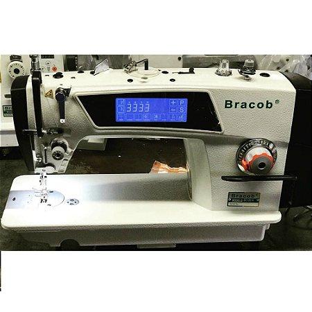 Maquina Reta Eletronica Direct Drive com corte de linha Touch Screen Bracob Bc D5-4- Bivolt