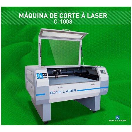 MAQUINA DE CORTE A LASER BOYE LASER MODELO CV 1008 - 130 A COM CAMERA