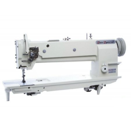 Máquina de Costura Industrial Sunspecial Transporte Triplo 01 Agulha Base Alongada GC-20606-1L18 - Bivolt