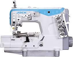 Maquina Galoneira Jack JK-W4-D-02BBx364 Com 3 Agulhas Base Plana Aberta - 220 vlts